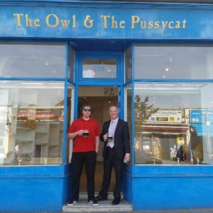 Founders of micropub Owl and Pussycat in Ealing, London