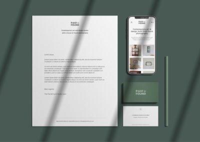Creating an identity for an art studio: Past & Found Studio